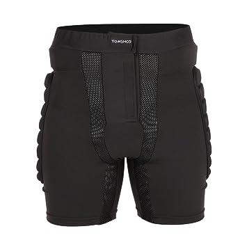 TOMSHOO Pantalones para Esquiar Cortos Respirable Acolchados de EVA Protector de Cadera y Nalgas Ideal para