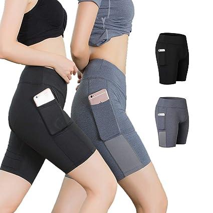 Kuty Pantalón Corto Deportivo para Mujer, Running Pantalones ...