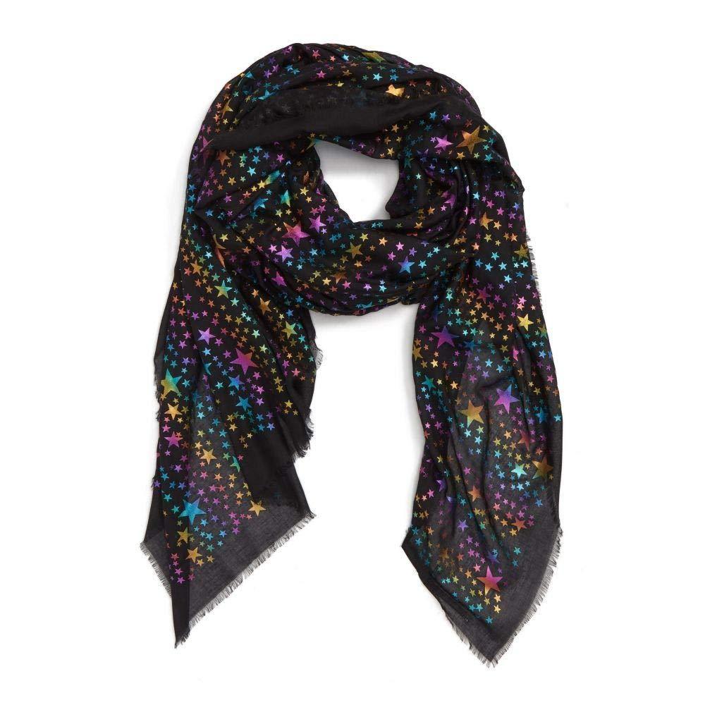 (ステラ マッカートニー) STELLA MCCARTNEY レディース マフラースカーフストール Rainbow Foil Star Modal & Silk Scarf [並行輸入品] B07JFWV436   One Size