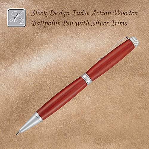 Contemporary Style Twist Action Ballpoint Pen, Rosewood Accent (Ballpoint Style Twist)