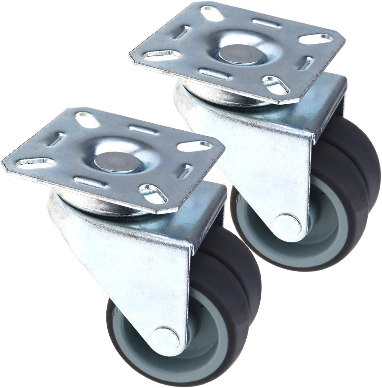 "4/"" Unbranded 100X25 Solid Rubber Wheel w// Swivel Caster 1//2/"" Threaded Stem"