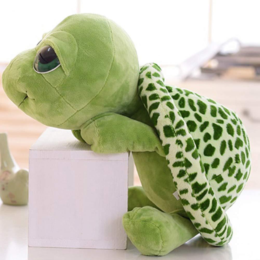 Denret3rgu Ornamento Morbido dellautomobile di Home Office del Giocattolo della Peluche di Modello Animale della Tartaruga di Mini Simulazione Green 20cm
