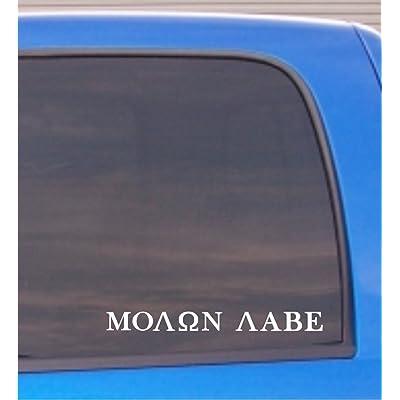 "CMI188 Molon Labe (Come and TAKE Them!) Vinyl Decal Sticker White | 10.75"" W x 1.1"" H: Automotive"