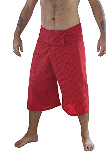 918029107b5 LannaPremium 2 Tone Thai Fisherman Pants Yoga Trousers Free Size Cotton  Gray Black Moreblades 1