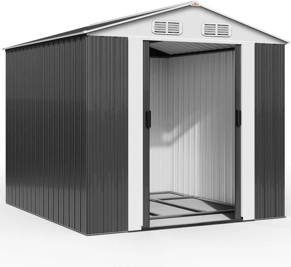 DEUBA® XXXL Metall Gerätehaus Gartenhaus Geräteschuppen 5m² Schiebetür