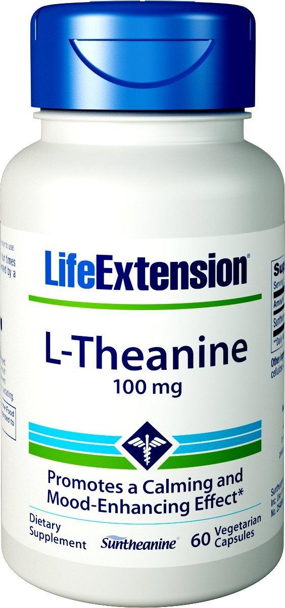 Life Extension L-Theanine Vegetarian Capsules, 100 mg, 60 Count by Life Extension: Amazon.es: Alimentación y bebidas