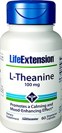 Life Extension L-Theanine Vegetarian Capsules, 100 mg, 60 Count by Life Extension