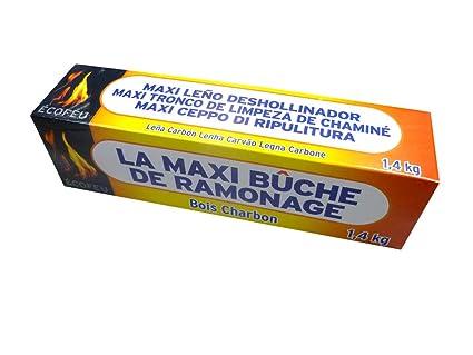 ECOFEU 8778-12 Leño deshollinador de chimenea MAXI 1.400 gr Marrón