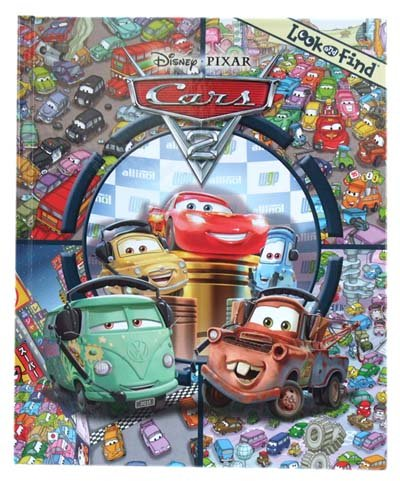 Cars 2 Look and Find 7080 Disney CARS import picture book English goods imported goods ]