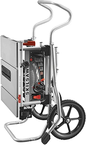 SKILSAW SPT99-11 10 Heavy Duty Worm Drive Table Saw with Stand, Silver