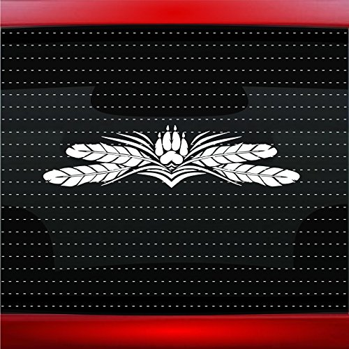 Wolf Paw #6 Indian Native American Car Sticker Truck Window Vinyl Decal COLOR: WHITE]()