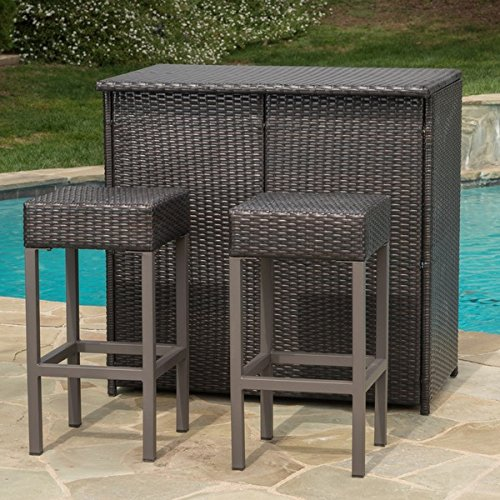 Excellent 3 Piece Bar Sets For Outdoor Patio Home Interior And Landscaping Pimpapssignezvosmurscom