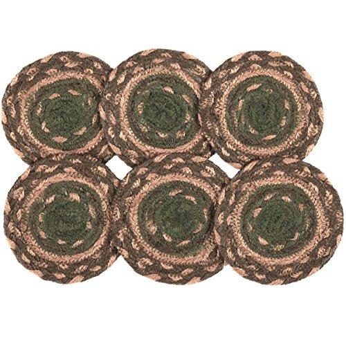 VHC Brands Rustic & Lodge Tabletop & Kitchen - Barrington Brown Jute Coaster Set of 6