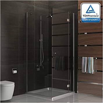 Cabina de ducha cuadrada de Alpenberger, 100 x 100 x 200 cm, de vidrio de seguridad resistente con superficie lisa, mampara de ducha, ducha de esquina, certificado TÜV: Amazon.es: Bricolaje y herramientas