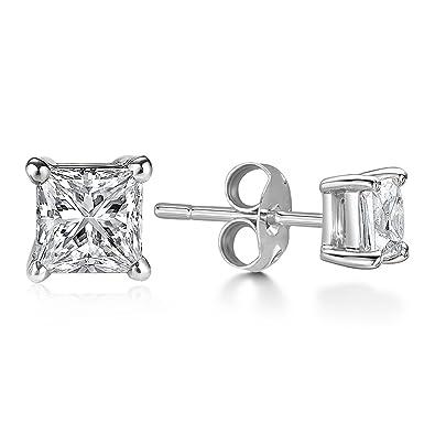 bas prix 83b24 13319 Billie Bijoux Argent Sterling 925 Clous Boucles d'Oreilles avec Zirconium  Diamant Rhinestone, Bijoux Femme
