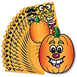 Create A Pumpkin Stickers - 15 Full Size Pumpkin Face Craft Sticker Sheet Halloween Crafts For Kids