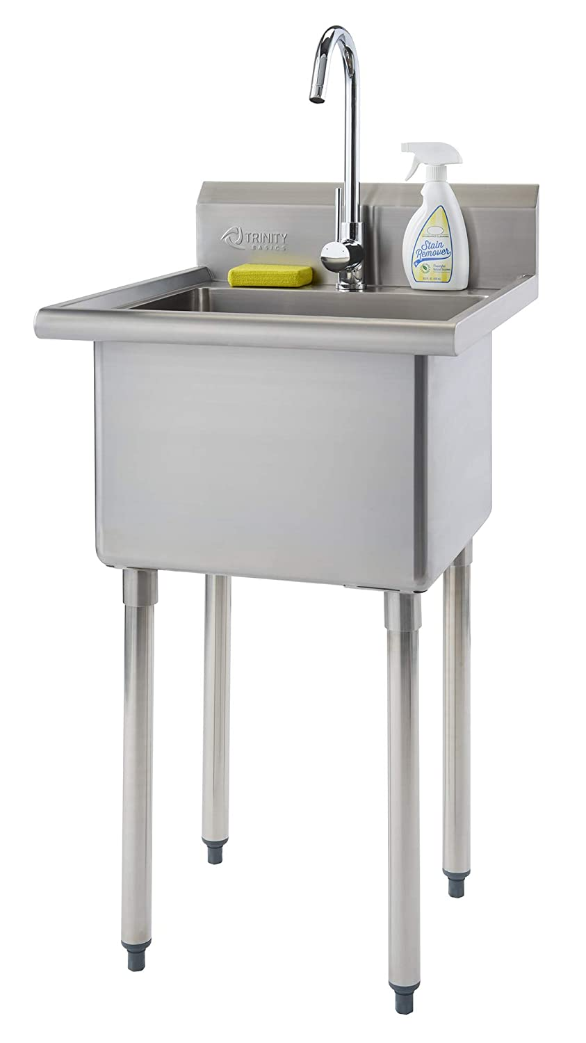 TRINITY THA-0307 Basics Stainless Steel w/Faucet Utility Sink,