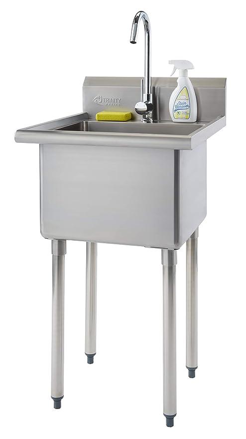 Amazon.com: TRINITY THA-0307 Basics - Fregadero de acero ...