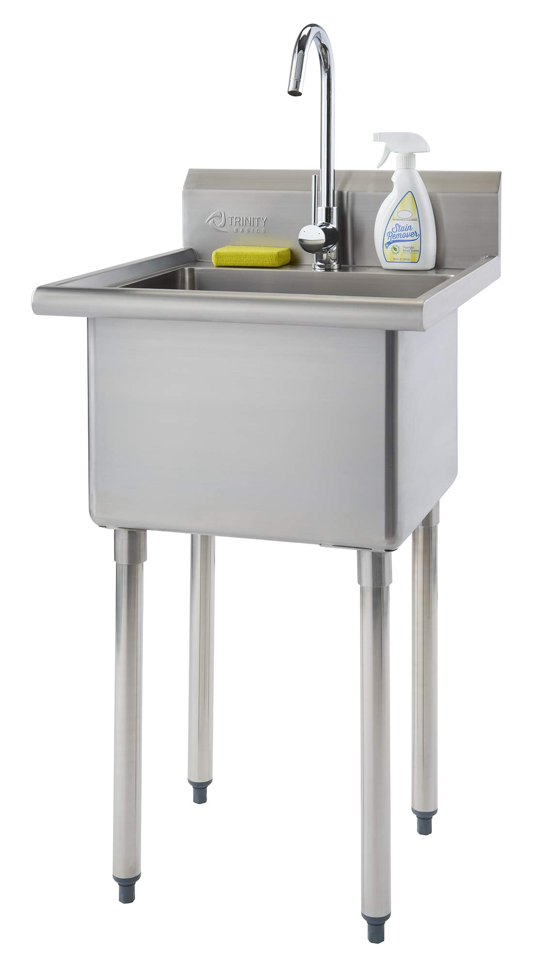 TRINITY THA-0307 Basics Stainless Steel w/Faucet Utility Sink