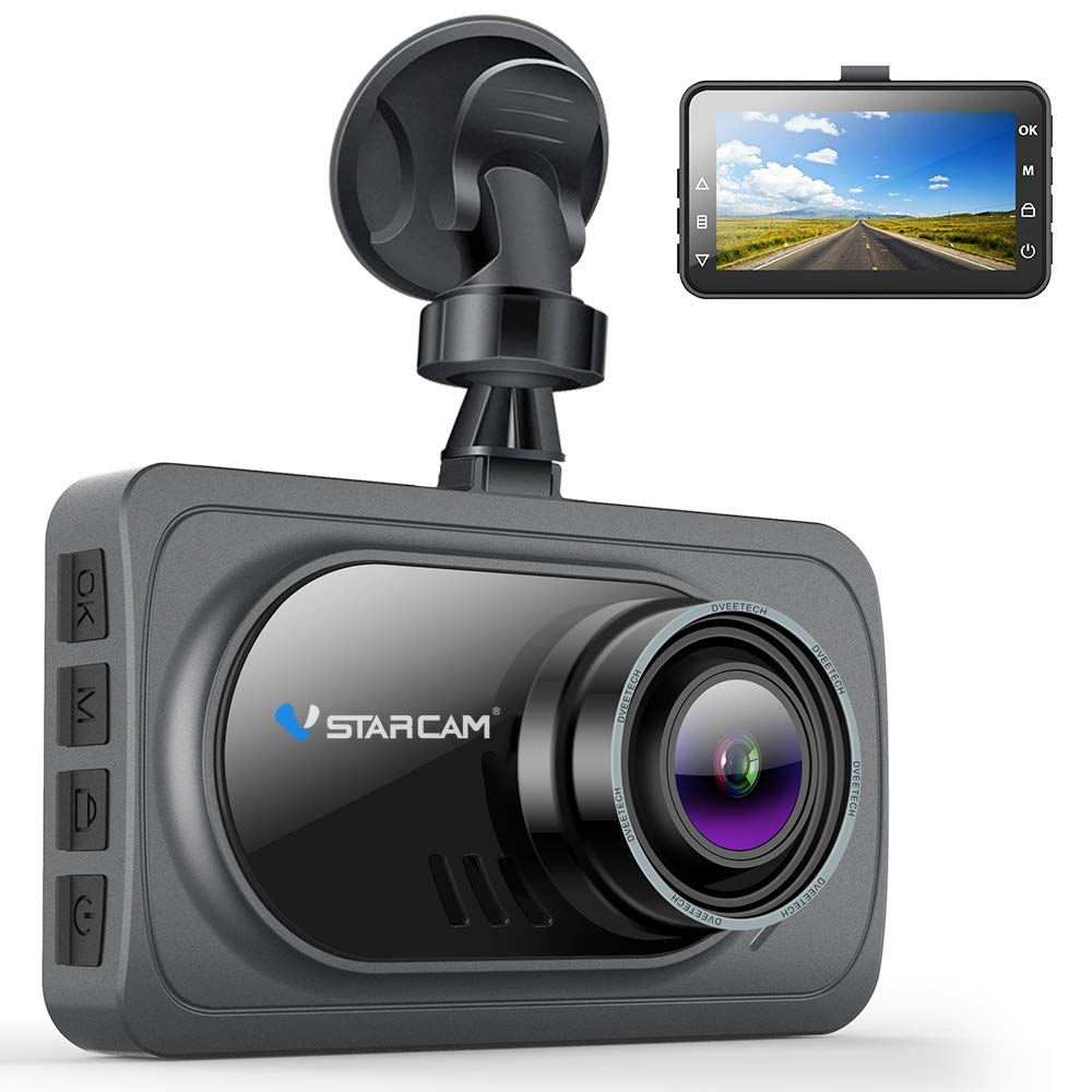 VStarcam Dash Cam 1080P Dash Camera for Cars,Super Wide Angle Car Camera with Super Night Vision,3'' IPS HD Screen Dash Camera for Cars,Dashboard Cam with G-Sensor,WDR,Parking Monitor,Loop Recording