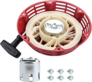 Kuupo GX240 GX270 Pull Recoil Starter Assembly with Cup for Honda 270cc Water Pump Rewind Starter GX 240 8HP GX 270 9HP Engine Generator Lawn Mower Parts Oregon 31-049 Rotary 26-10469 Stens 150-711