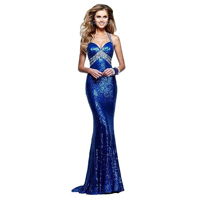 Engerla - Vestido de novia - ajustado - Básico - Mujer Azul azul 34