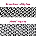 Dreamlover 2 Pack Long Wig Caps, Mesh Net Wig Cap, Open End Wig Cap for Long and Short Hair (Black/Natural Nude)