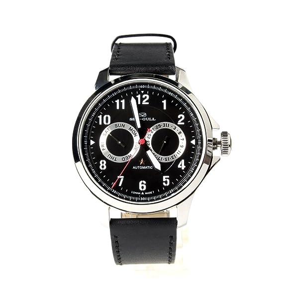 Gaviota automático chino Militar reloj luminoso Numeral Dial Negro 819.27.1012