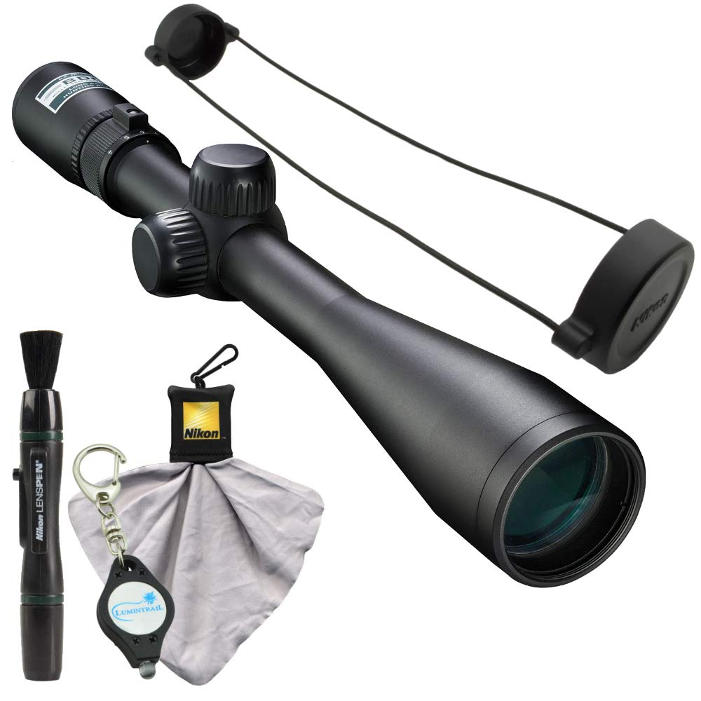 Nikon 4-12×40 BDC Riflescope 16559 , Matte Black Bundle with a Cleaning Cloth, Lens Pen, and Lumintrail Keychain Light