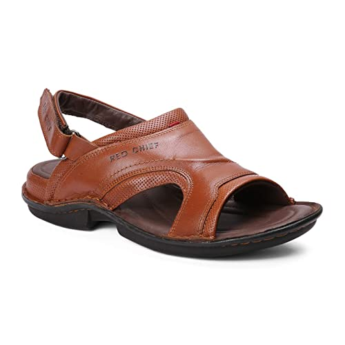 3370d7143 Red Chief Brown Casual Leather Sandal for Men (RC7002 749)  Amazon.in   Shoes   Handbags