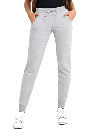 cd10d4c247d4 Ladies Womens Drawstring Sweatpants Joggers Tracksuit Bottoms Fleece Sports  Trousers  Amazon.co.uk  Clothing
