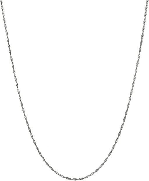 Real 925 Sterling Silver 1mm Twisted Foxtail Chain 16-24 Inches Chains