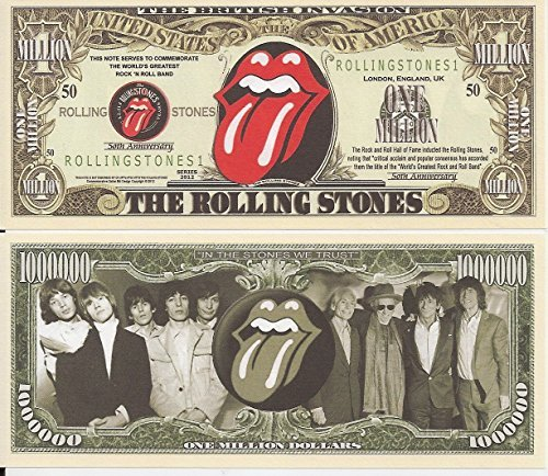 The Rolling Stones $Million Dollar$ Novelty Bill Collectible by ACC