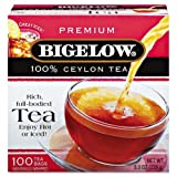 Bigelow Tea Company Products - Ceylon Black Tea, Individual Wrapped, 100/BX - Sold as 1 BX - Premium blend tea is 100 percent Ceylon Black Tea. Blend is made with the highest quality Orange Pekoe and Pekoe Cut Black Tea. Tea comes in individually paper wr