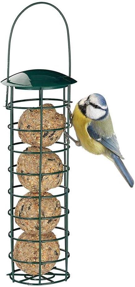 i7kbgshj Outdoor Bird Feeder Hanging Wire Suet Ball Holder Bird Food Dispenser Seed Dispenser Millet Holder Creative Parrot Treat Box Fruit Vegetable Feeders