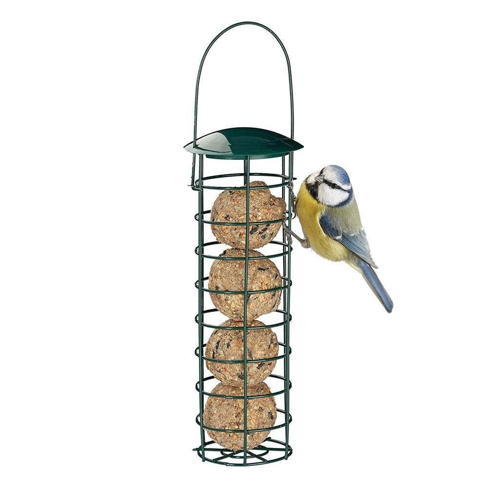 navigatee Mangeoire /à Oiseaux H Distributeur de Nourriture pour mangeoire /à Oiseaux dext/érieur pour Porte-Boules de Graisse pour boulettes de Graisse pour Petits Oiseaux Sauvages Vert fonc/é