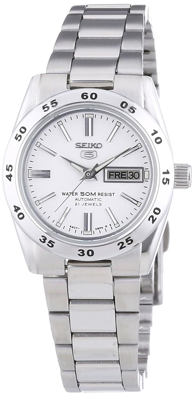 Seiko Damen-Armbanduhr XS Seiko 5 Analog Automatik Edelstahl SYMG35K1