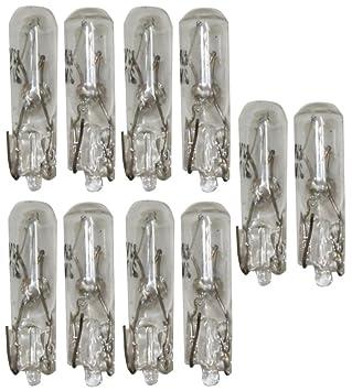 AERZETIX: 10 x Bombillas 2W T5 12V de salpicadero para coche: Amazon.es: Coche y moto