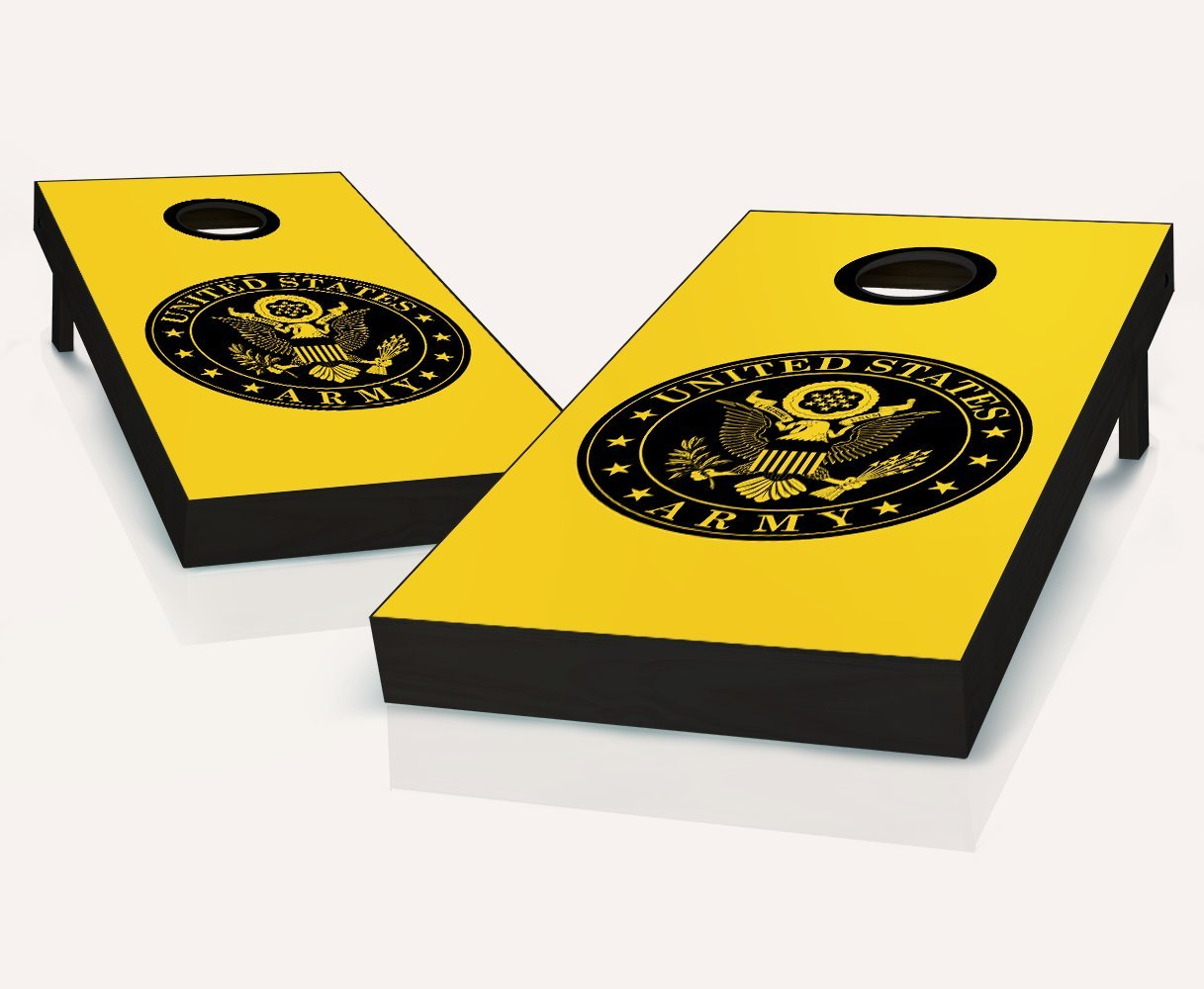 US Army Seal Cornhole Boards withのセット8 Cornhole Bags B079Z96CLZ