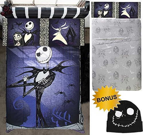 Jay Franco NIGHTMARE BEFORE CHRISTMAS 5pc FULL SIZE Bedding