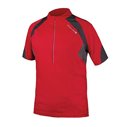 Amazon.com   Endura Hummvee II Short Sleeve Cycling Jersey Red ... 6bfcc6836