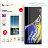 BERSEM Screen Protector for Samsung Galaxy Note 9, [New Version] [Full Coverage] [Case Friendly] HD Clear Anti-Bubble Film wi