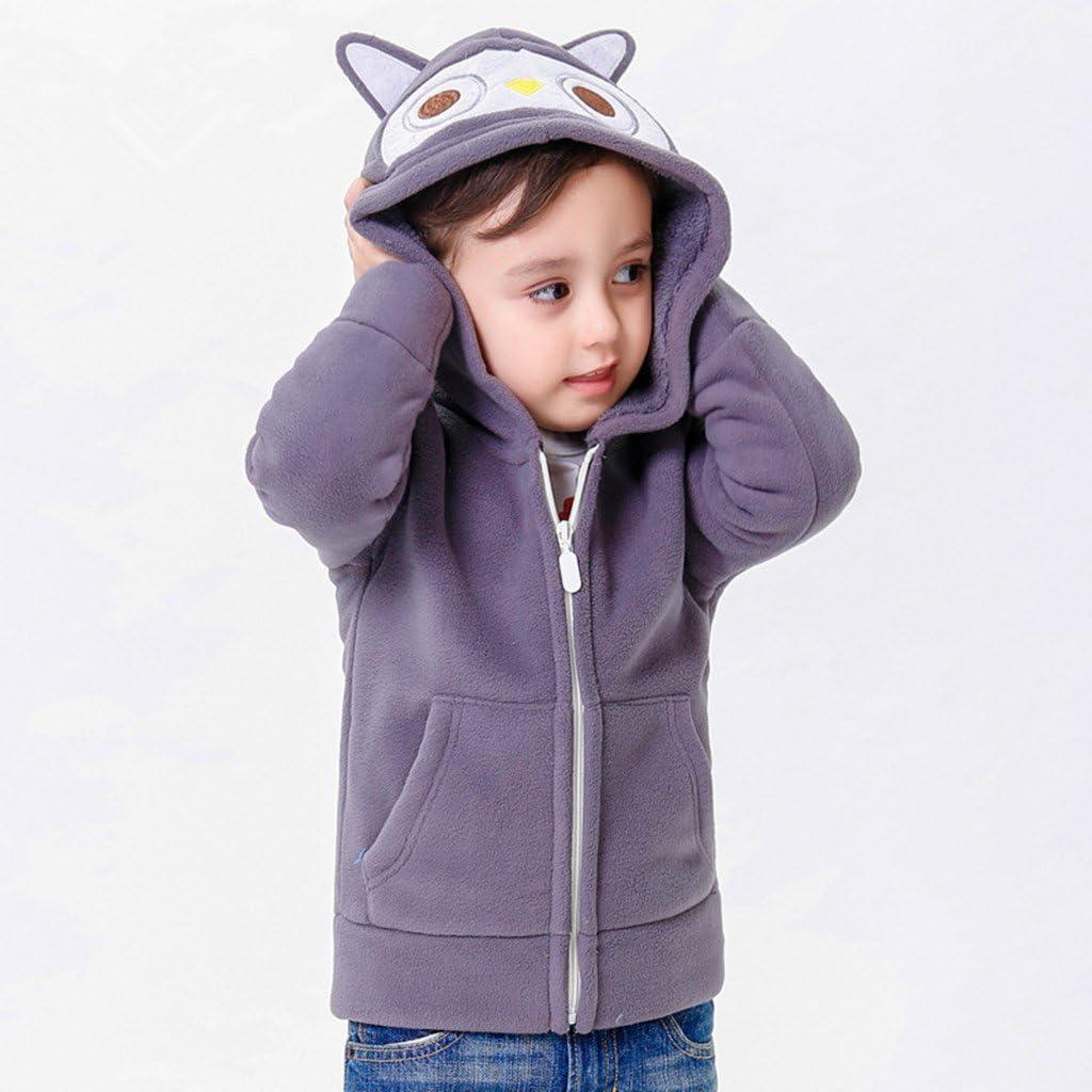 Vine Giacche in pile Bambina con Cappuccio Felpa con Cappuccio Hoodie Cappotto Pullover Vestiti dei Bambini per 1-6 Anni