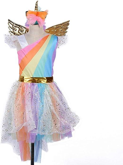 BESTOYARD Vestido de Princesa de Unicornio Disfraz para Fiesta ...