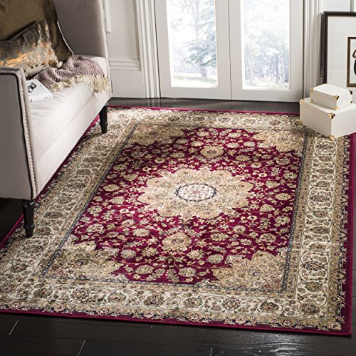 Safavieh Atlas Collection ATL668A Red and Ivory Oriental Viscose Area Rug (8' x - Collection Atlas