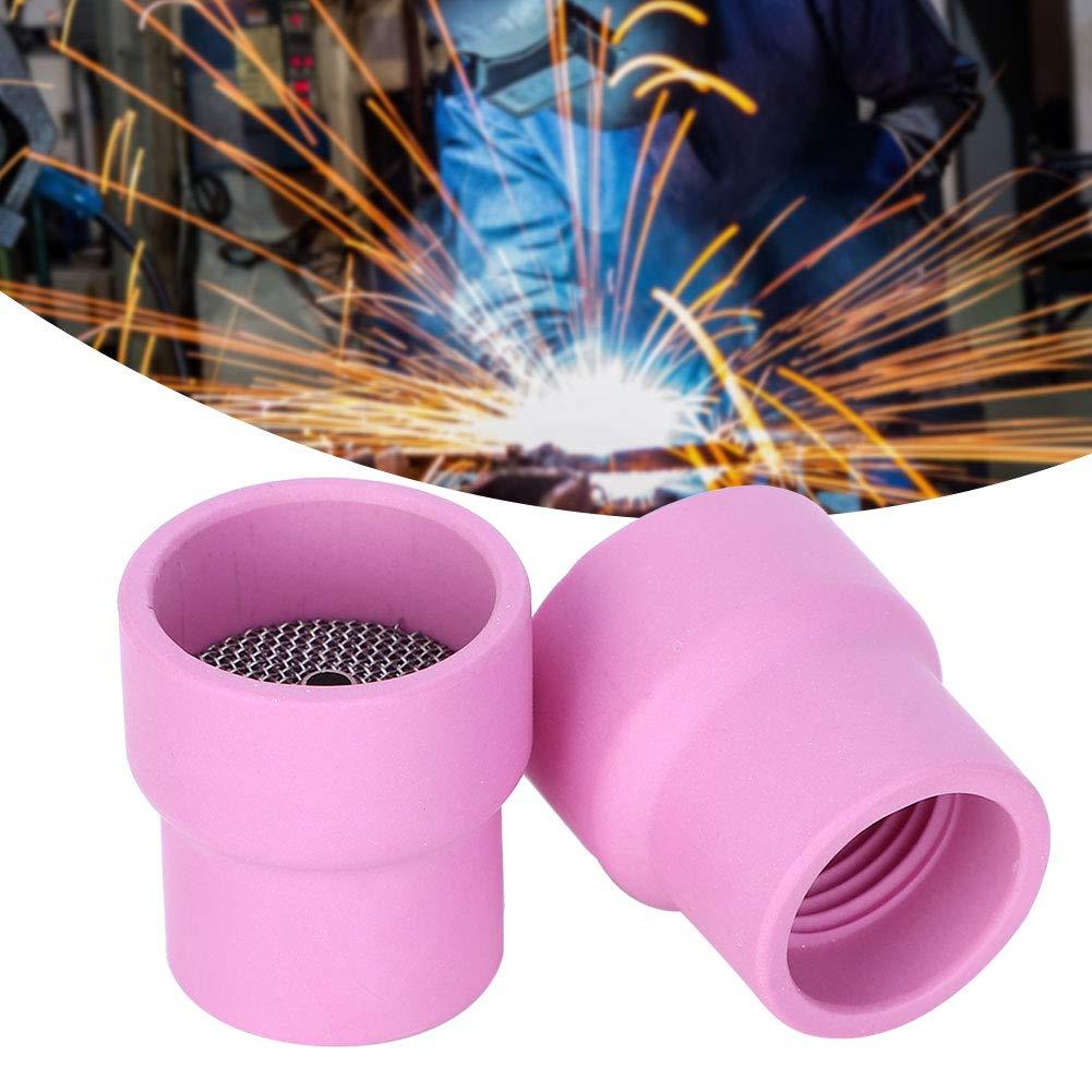 2 pi/èces tasse de soudage en c/éramique # 12 TIG gaz lentille buse dalumine tasse Furick pour WP-9 WP-20 s/érie WP-25 torche de soudage refroidie /à lair