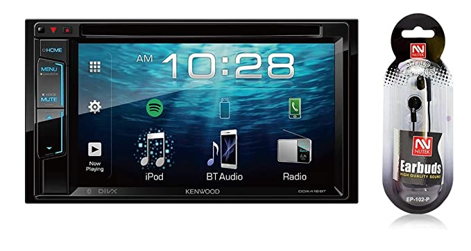 amazon com kenwood 6 2 double din touchscreen dvd cd bluetooth usb rh amazon com
