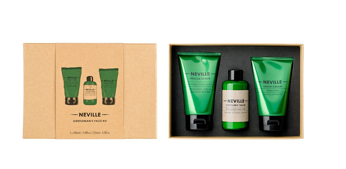 Neville Gentleman's Face Kit - Rescue Scrub, Shave Cream and Cooling Balm Cowshed 47770467