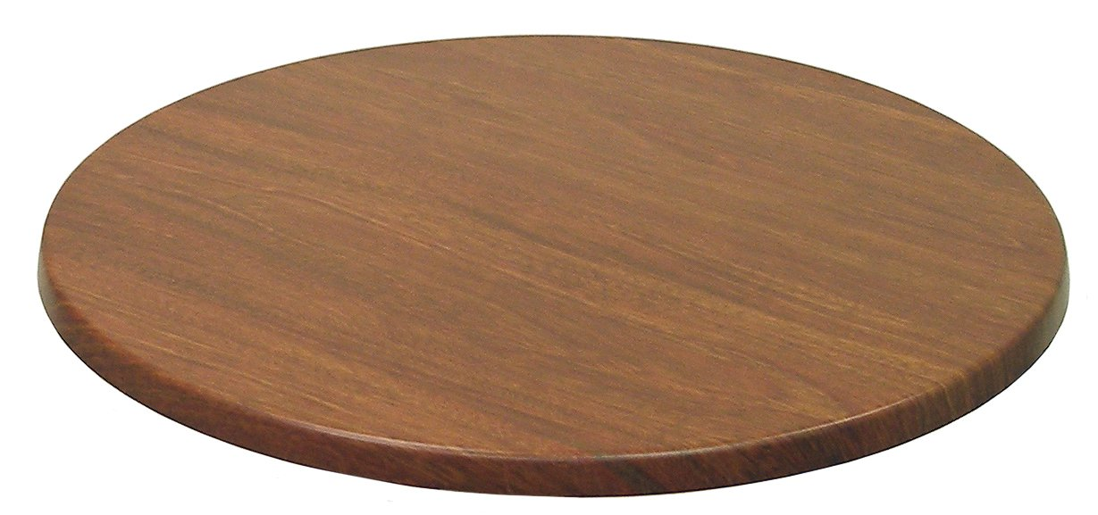 ATC Werzalit Wood-Look Table Top, 24'' D, New Mahogany (Pack of 2)