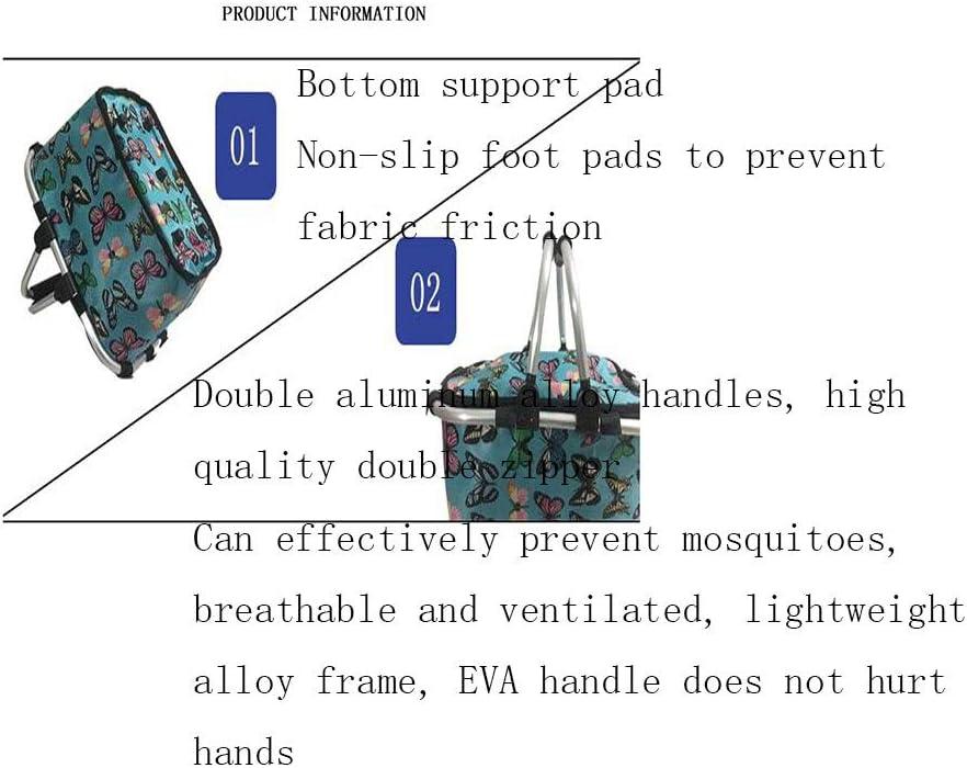 JSY Isolato Borsello Lunch Box Picnic Bag Portatile di Alluminio ispessite Lunch Bag Grande Borsa Impermeabile refrigerato Borse da Picnic (Color : B) D